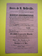 Pub 19 ème Société Ruolz Argenture Mr Melleville Marseille Au Dos Timbre Bouches Du Rhône - Publicités