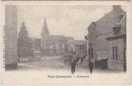 25122g  ATTELAGE - PLACE COMMUNALE - Loverval - 1904 - Gerpinnes