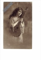Carte Fantaisie - Mignon, Femme Cheveux Longs, Mandoline, Ed W R B & Co Vienne Série 2793 - Women
