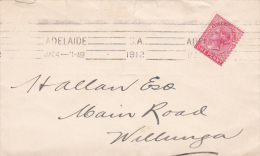 Australia South Australia State 1912 One Penny On Cover - 1855-1912 South Australia