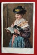 JEUNE FILLE DE TEGERNSEE / GERMAN FOLKLORE S: EMIL RAU - Costumi