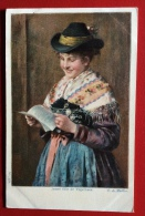 JEUNE FILLE DE TEGERNSEE / GERMAN FOLKLORE S: EMIL RAU - Costumes