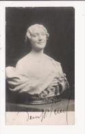 DENYS PUECH (GAVERNAC (12) 1854 RODEZ ( 12) 1942) SCULPTEUR FRANCAIS CARTE AVEC UNE DE SES SCULPTURE DEDICACEE - Autographes