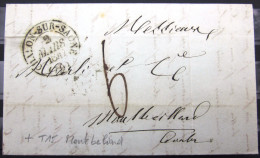 CACHET TYPE 13 + T 15 MONTBELIARD  --  CHALON-S-SAONE  --  SAONE ET LOIRE   --  LAC  --  1847 - Postmark Collection (Covers)