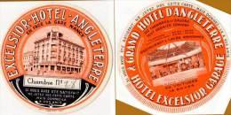 Etiquette d'Hotel : Exelsior Hotel Angleterre, en face la gare Nancy