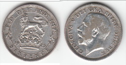 **** GRANDE-BRETAGNE - GREAT-BRITAIN - 6 PENCE 1925 - SIX PENCE 1925 GEORGE V - SILVER **** EN ACHAT IMMEDIAT !!! - 1902-1971 : Post-Victorian Coins