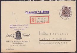 DDR Mi. 442 70 Auf 84 Pf Portosenkung R-Brief Pößneck Rudolf Forkel Verlag - [6] República Democrática