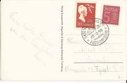 "SUEDE - 1958 - CARTE Du PAQUEBOT MS ""TRELLEBORG"" Avec CACHET MARITIME LIGNE ""SASSNITZ à TRELLEBORG""  => ERFURT"