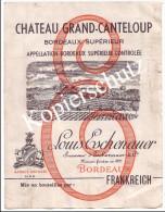 Chateau Grand-Canteloup, Louis Eschenauer, Etikett (z2799) - Bordeaux