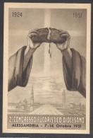 6761-ALESSANDRIA-2° CONGRESSO EUCARISTICO DIOCESANO 7-14 OTTOBRE 1951-FG - Christianisme
