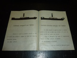 DOCUMENT DEPLIANT COMMENT NAVIGUENT NOS VAPEUR & COMMENT DEVRAIENT NAVIGUER NOS VAPEUR - BATEAU COMPAGNIE MARITIME - Boats