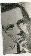 """AUTOGRAFO DÉDICACÉ AUTOGRAPHED """"PIERRE GILBERT"""" ACTOR-ACTEUR ORIGINAL SIGNATURE GECKO - Autographs"""