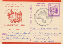 HEIDENREICHSTEIN - 1978 , MINI-MESSE - Ganzsachen