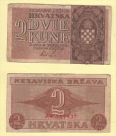 Croazia Hrvatska  2 Kune 1942 II WW - Croatia