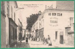 7 - CROUY SUR OURCQ - RUE SAINT JACQUES - CAFE BUVETTE AU BON COIN - Altri Comuni