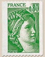 Type Sabine, Tirée D'une Oeuvre Du Peintre Louis David. 1re Série. 80c. Vert Y1980 - France