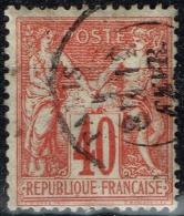 France - 1876 - Y&T N° 70, Oblitéré - 1876-1878 Sage (Type I)