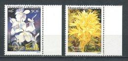 Nlle CALEDONIE 1993 PA N° 303/304  **  Neufs = MNH Superbes Cote 2 € Fleurs Flowers Flore Bangkok Orchidées Logo - Aéreo