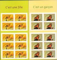 France - 2004 - Garcon Et Fille(2 Carnets), YT BC 3634+3635, Neuf**, Non Plie - Booklets