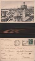 251) GENOVA PANORAME DEI TETTI E CATTEDRALE SAN LORENZO VIAGGIATA 1937 NITIDA TARGHETTA VISITATE L'ITALIA - Genova