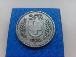 5 Francs Suisse Argent 1932 - Svizzera