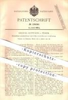 Original Patent - Emanuel Kottusch In Zürich , 1901 , Zündholzbehälter , Streichholz , Feuer , Zündholz !!! - Boites D'allumettes