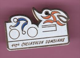 44645-Pin's.Cyclisme.Cyclathlon Domblans .. - Cyclisme