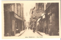 """Pézenas (Beziers-Hérault)-Rue Conti-Librairie Papeterie Aguilhon Barthe-commerce Mercerie """"Au Petit Paris"""" - Pezenas"""