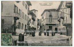 CARTOLINA PIAZZA PRINCIPALE DI VERRES AOSTA VIAGGIATA - Aosta
