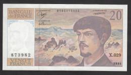 20 Francs Debussy - 1990 - Fayette 66bis/1-29 - Etat Neuf - 1962-1997 ''Francs''
