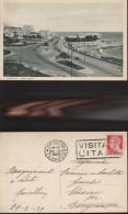 256) GENOVA CORSO ITALIA E SAN GIULIANO VIAGGIATA 1939 NITIDA TARGHETTA VISITATE L'ITALIA - Genova