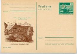 DDR P79-29-81 C177-a Postkarte PRIVATER ZUDRUCK Postkutsche Brücke Suhl 1981 - Ponts