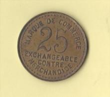 Marque De Commerce Da 25 Francs ? London E Paris - Non Datati