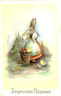CPA  - Illustration  - Joyeuses Paques.Lapin Oeuf Poussins. Q 270 - Ostern