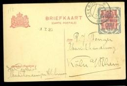 HANDGESCHREVEN BRIEFKAART Uit 1923 Van AKKRUM Naar KOLN DEUTSCHLAND * VOORDRUK * (9802a) - Postal Stationery