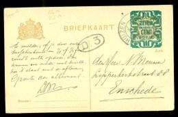 HANDGESCHREVEN BRIEFKAART Uit 1921 Van ENKHUIZEN Naar ENSCHEDE * VOORDRUK * (9802d) - Postwaardestukken