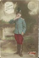 Ansichtskarte Franz�sischer Soldat & 5 Franc-M�nze 1914 #01