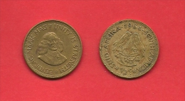 SOUTH AFRICA, 1964,  Circulated Coin, 1/2 Cent, Van Riebeeck, Km56, C1450 - South Africa