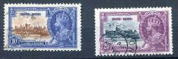 Hong Kong - 1935 - YT 134 , 135 Obl. Scott 149 - 150 - SG 135 , 136 - Hong Kong (...-1997)