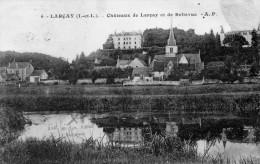 Cpa 1931, LARCAY, Châteaux De Larçay Et De Bellevue, Petit Hameau Aux Pieds Des Châteaux   (45.87) - France