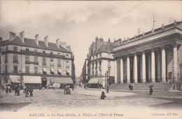 CPA Nantes, La Place Graslin, Le Thèâtre Et L'Hotel De France (pk18751) - Nantes