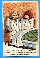 LIP228, Couple Au Lit,  Circulée Sous Enveloppe - Humour