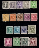 GERMANY, ALLIED OCCUPATION , 1945, Hinged Unused Stamp(s) Numbers, MI 16=35  #13405, 18values Only - American/British Zone