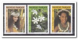 Polynesië 1990, Postfris MNH, Woman, Flowers - Ongebruikt
