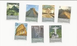 Gibraltar 2008 The New Seven Wonders Of Teh World Set   MNH Cv£8 In 2010 - Gibraltar