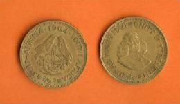 SOUTH AFRICA 1964 1/2 Cent Jan Van Riebeeck Brass Km 56 - Zuid-Afrika