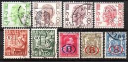 Belgique ; 1944-1948-1974 ; N° Y: Service , 8 Tp  ; Ob. ;  Divers ; Cote Y : 6.30 E. - Officials