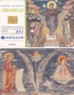 PHONECARD ROMANIA 2002 CHURCH,PAINTING. - Romania