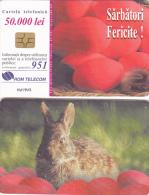 PHONECARD ROMANIA 2001 ADVERTISEMENT,RABBIT. - Romania