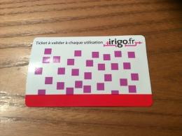 """Ticket de transport (Tramway - Bus) """"irigo.fr"""" ANGERS (49)"""